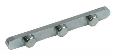 Axle Key 3 Peg 6mm x 59mm x 6mm Pegs - 30mm axle - Pkt 4