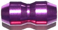 Cable Clamp Anodised - Purple with Grub Screws