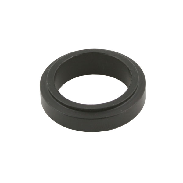 ALUMINIUM SPINDLE SPACER 25x10mm, BLACK ANODIZED