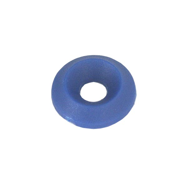 COUNTERSUNK NYLON WASHER 17 x 6mm BLUE COLOUR