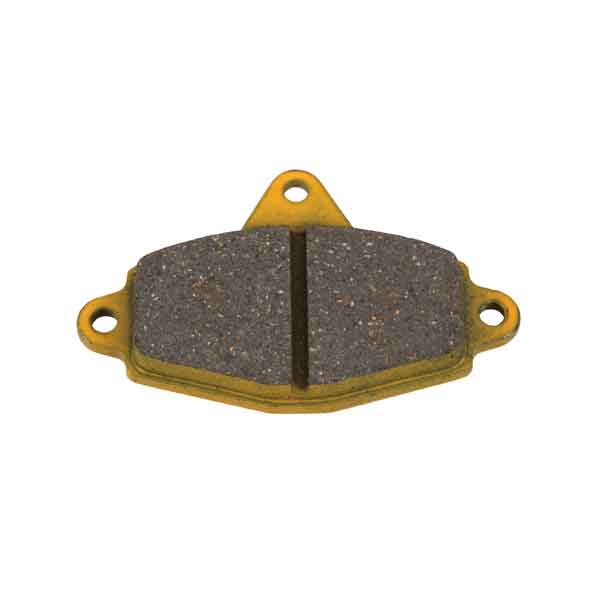 FRONT BRAKE PAD,(X2) MEDIUM TYPE (113), YELLOW COLOUR