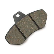 REAR BRAKE PADS (x2), RR, HARD TYPE (111), BLACK COLOUR
