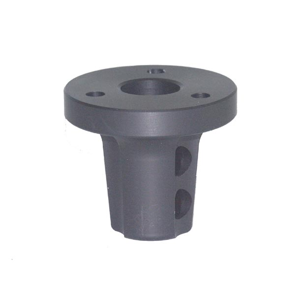 ALUMINIUM HUB FOR STEERING WHEEL 20MM ID BLACK ANODIZED