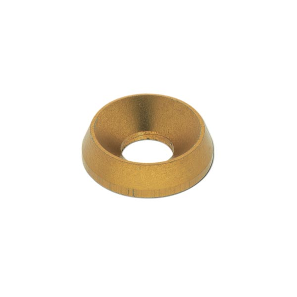 ALUMINIUM COUNTERSUNK WASHER 19 x 8mm, GOLD ANODIZED