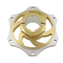 ALUMINIUM SPROCKET CARRIER FOR 50mm AXLE GOLD ANODIZED
