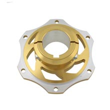 BRAKE DISK CARRIER FOR 40mm AXLE 8MM KEY GOLD ANODIZED