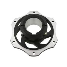 BRAKE DISK CARRIER FOR 40mm AXLE 8MM KEY BLACK ANODIZED