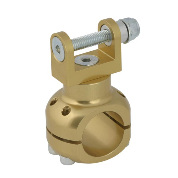 ALUMINIUM CLAMP D.32mm WATER PUMP SUPPORT GOLD ANODIZED