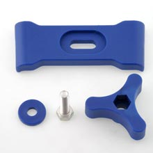 BRACKET FOR K855 PETROL TANK COMPLETE WITH IN KNOB BLUE COLOUR
