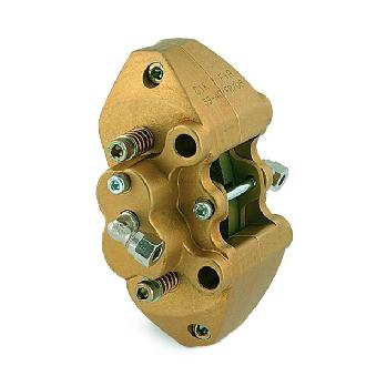 CALIPER REAR HYDRAULIC WITH 4 PISTONS, GOLD ANODIZED