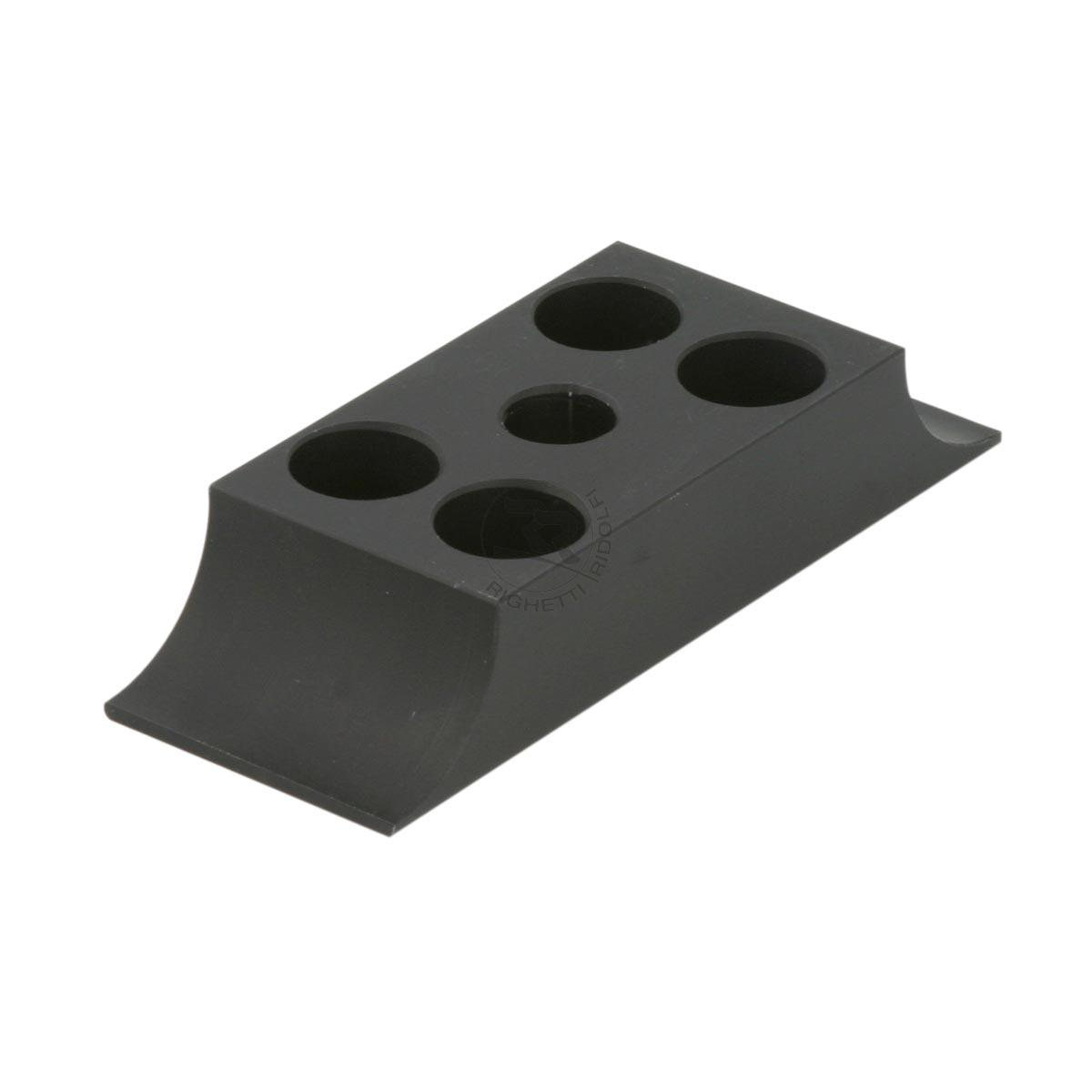 ALUMINIUM LOWER BRACKET 30X92mm, BLACK ANODIZED