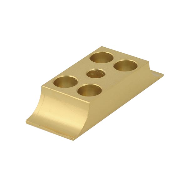 DOUBLE ENGINE MOUNT LOWER BRACKET 30X92mm, GOLD ANODIZED