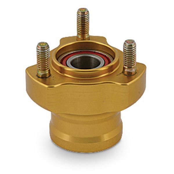 L.50mm ALUMINIUM FRONT HUB, GOLD ANODIZED COMPLETE WITH BEARING