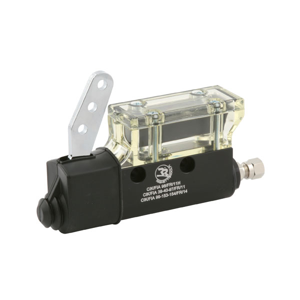 BRAKE PUMP BLACK ANOD., TRANSPARENT TANK