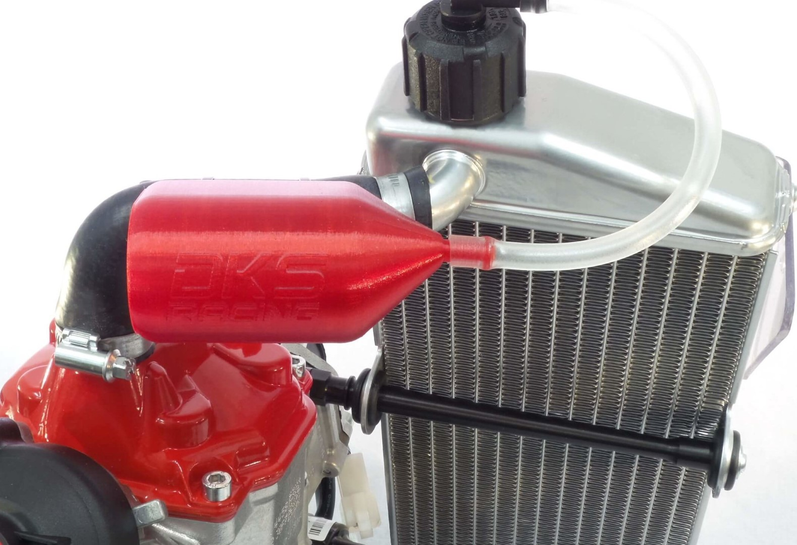 Rotax overflow bottle and gearbox breather kit - Red