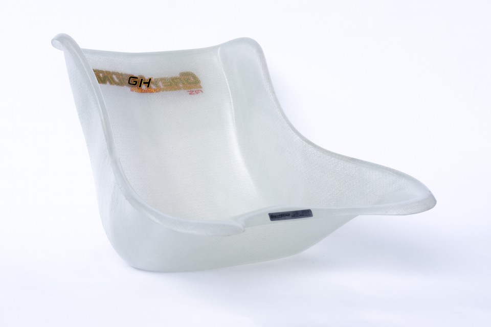 Greyhound Clear Seat 34cm Size 8 / L / Flat Bottom