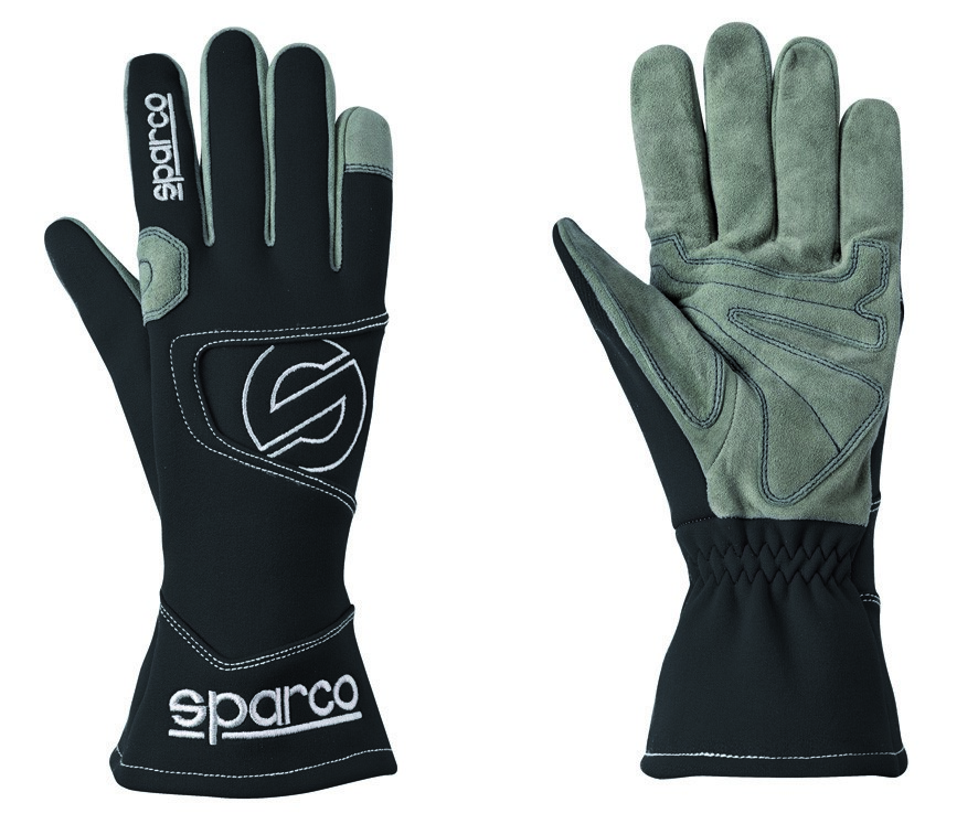 Kart Gloves Sparco Hurricane K-3 - Black - Size 9