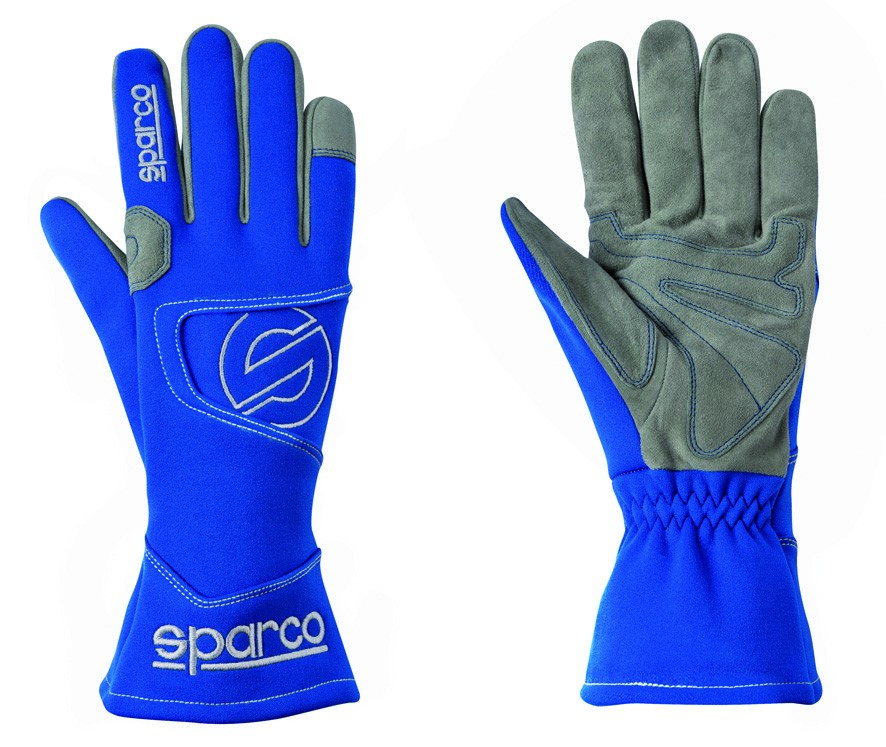 Kart Gloves Sparco Hurricane K-3 - Blue - Size 13