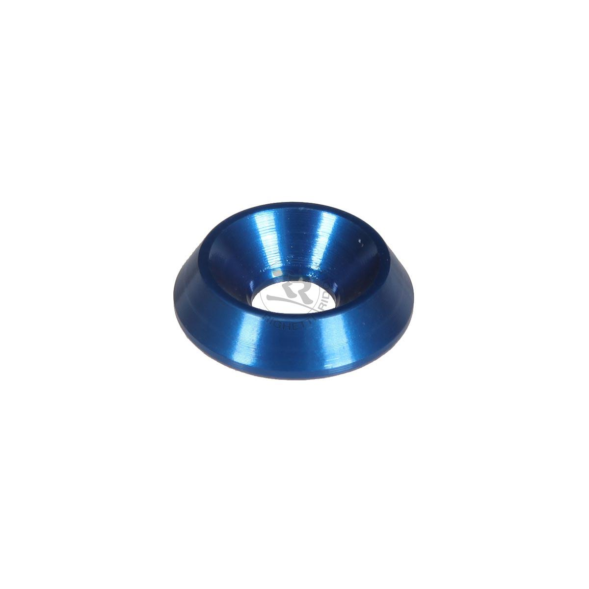 ALUMINIUM COUNTERSUNK WASHER 18 x 6mm, BLUE ANODIZED