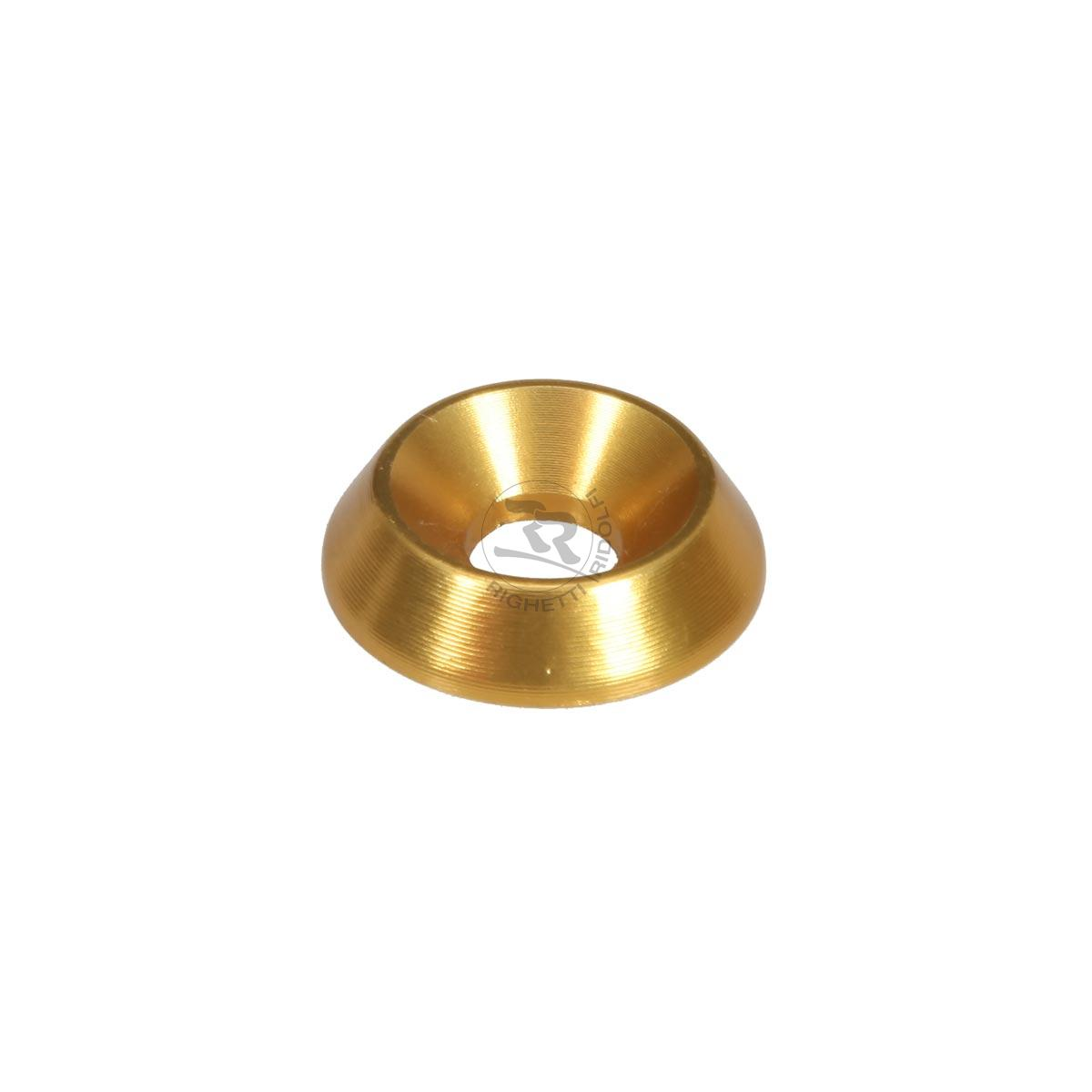 ALUMINIUM COUNTERSUNK WASHER 18 x 6mm, GOLD ANODIZED