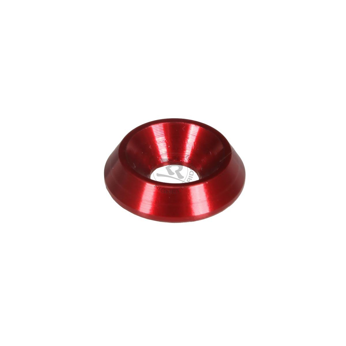 ALUMINIUM COUNTERSUNK WASHER 18 x 6mm, RED ANODIZED