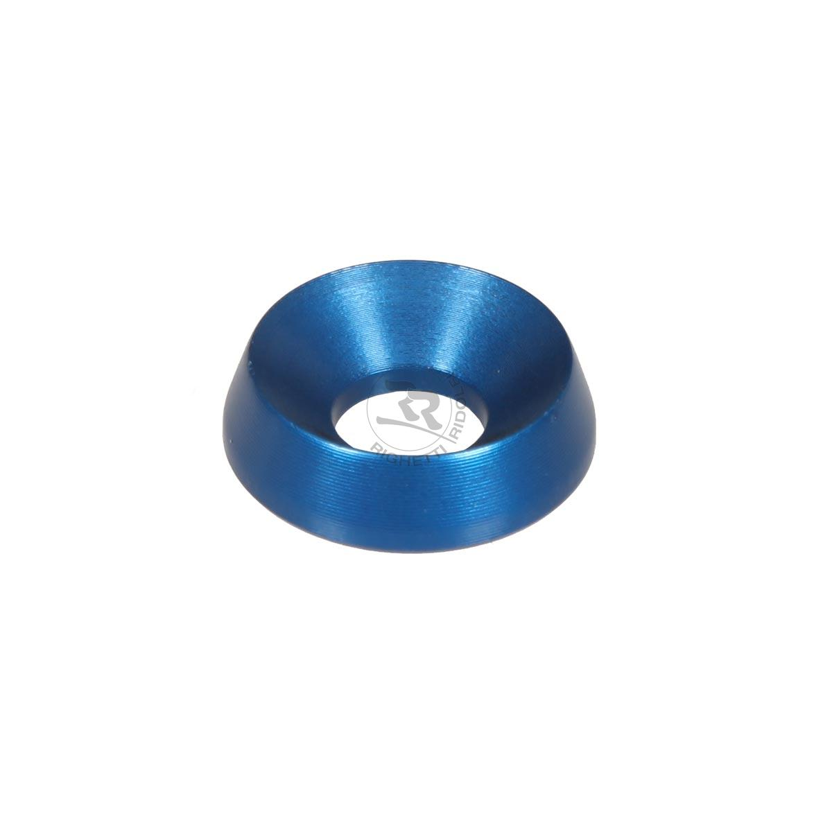 ALUMINIUM COUNTERSUNK WASHER 19 x 8mm, BLUE ANODIZED
