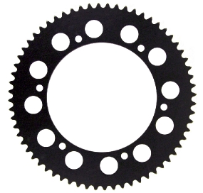 72T 219 Sprocket - Black High Quality - European Made
