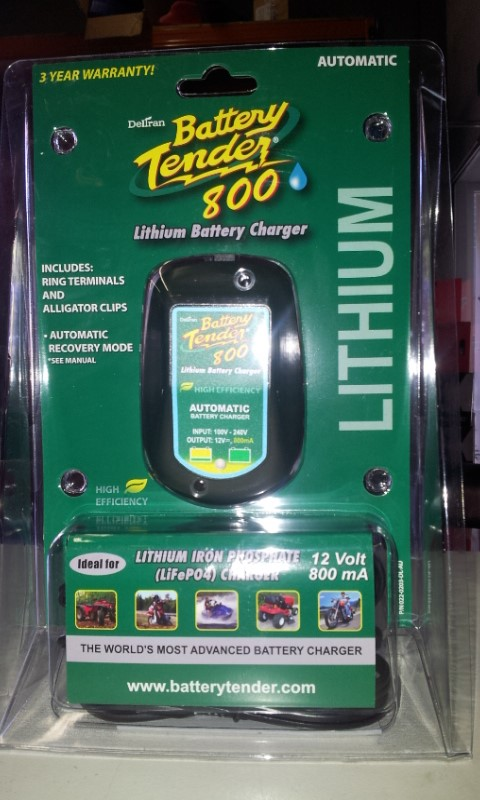 BATTERY TENDER LITHIUM CHARGER