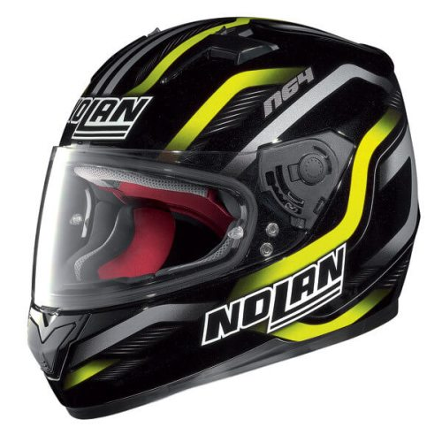 Nolan N64 Fusion Gloss Metal Black Yellow Helmet