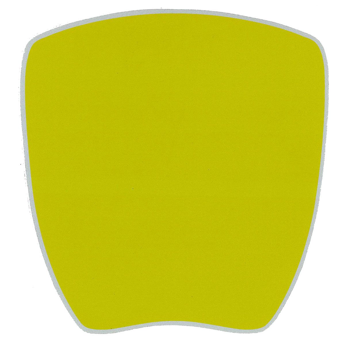 Kartech Number Plate Nassa Yellow Full Gloss Sticker 205 x 200mm