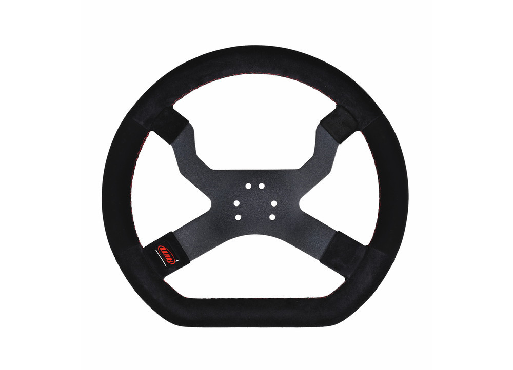 MyChron5 Kart Steering Wheel Black (6 hole for OTK Karts)