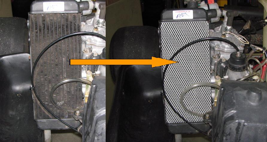 RADIATOR - WITH PLASTIC SHIELD - JNR/SNR