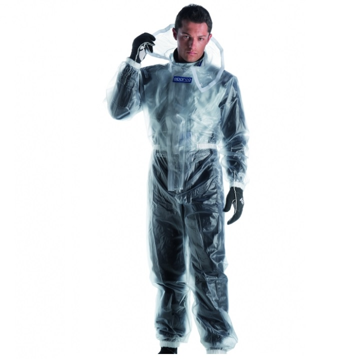 Sparco T1 Clear Rainsuit - 140/150