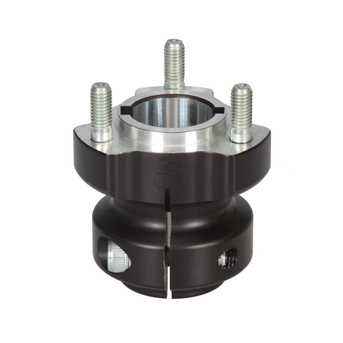 ALUMINIUM REAR HUB 30/62-6/8, BLACK ANODIZED